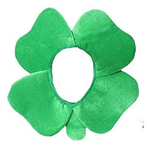 MOMEY Irish Clover Hat Four Leaf Shamrock Green Velvet Hat Party Supplies (Supplies Shamrock-party)