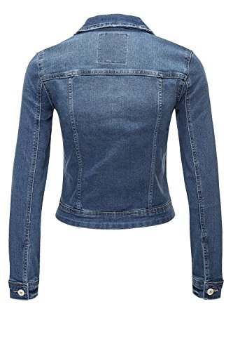 ONLY Damen Jeansjacke Übergangsjacke Leichte Jacke Denim Casual (XS, Medium Blue Denim - 3