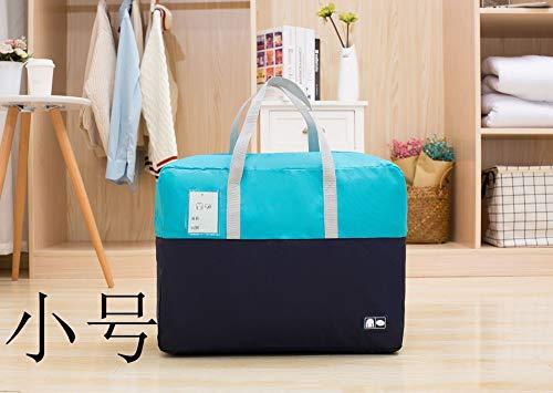 3Species Größe, Bettbezug Aufbewahrungstasche mit Reißverschlüssen, Kleidung, Decken, aus bequemem und geruchsneutralem Stoff Himmelblau/Dunkelblau - Premium Pack Bettwäsche-set