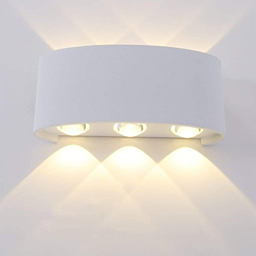 QAZ Wandleuchte LED Wasserdicht modernen minimalistischen Interieur Outdoor wasserdicht Garten Schlafzimmer Nachttischlampe Gang Wand Projekt im Freien (Farbe: C) (Lighting Im Freien Spotlight)