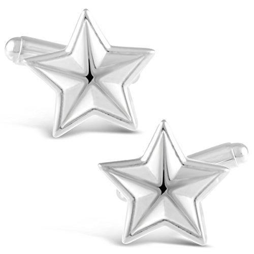 Boutons de manchette en argent sterling en forme d'étoile