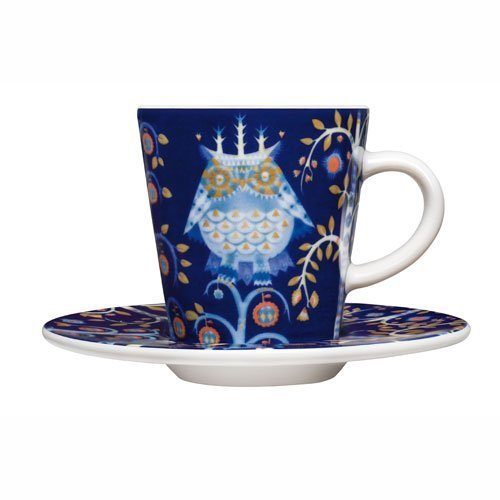 iittala Taika Blue Espresso Cup and Saucer by Iittala Taika Espresso Cup