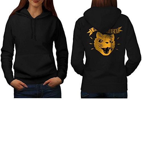 the-wild-cat-snarl-angry-kitten-women-new-black-l-hoodie-back-wellcoda