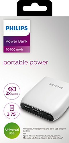 Buy Philips 10400 Mah Power Bank White Dlp10406 Online At Lowest