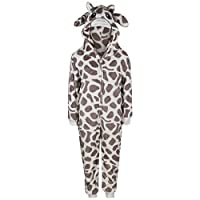 A2Z 4 Kids® Kids Girls Boys A2Z Onesie One Piece Extra Soft Fluffy Giraffe All in One Halloween Costume New Age 7 8 9 10 11 12 13 14 Years