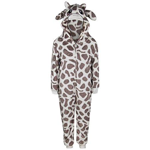 A2Z 4 Kids® Enfants Filles Garçons Doux Duveteux Animal Girafe Onesie Tout in Un Costume Âge 7-13 Ans A2Z 4 Kids