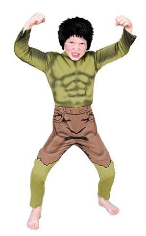 Marvel Avengers Der Hulk Deluxe Kostüm mit gepolsterter Brust - Klein (Alter 3-4) [UK Import] (Jungs Halloween Kostüme Uk)