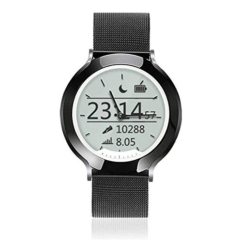 Mogustore M6 Steel Band 5ATM Wasserdichte Smart Watch Dynamische und Statische Pulsuhr Smart Clock Digital LCD + Zeiger