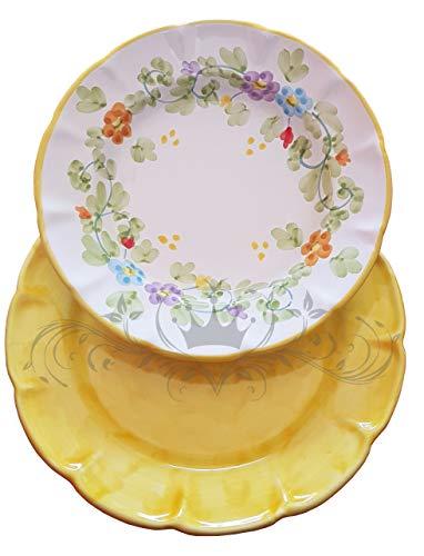 Piatto Vietri Ceramica vietrese Dipinti a Mano. Primavera (Giallo)