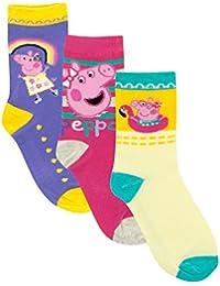 Peppa Pig Girls Peppa Socks Pack of 3 Sizes 6 to 2