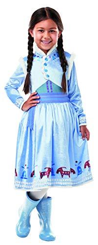 Fancy Ole - Mädchen Girl Kinder Anna Frozen Olaf´s Adventure Deluxe Kostüm mit Prinzessinnenkleid, perfekt für Karneval, Fasching und Fastnacht, 110-116, ()