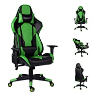 EUCO Gaming Chair Racing Style Computer Chair Ergonomics Reclining PC Chair High Back Executive Leather Office Chair with Adjustable Armrest and Lumbar Support,Red/White/Blue/Green