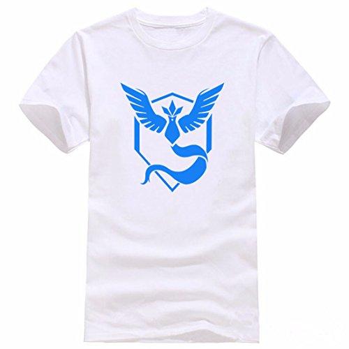 Men's Pokemon Printed Cotton Short Sleeve Tee Shirt 1