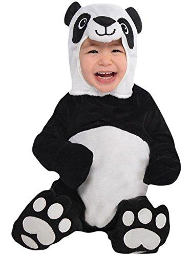 erdbeerloft - Unisex - Baby Karneval Kostüm Panda Bär , Schwarz, Größe 80-92, 1-2 Jahre