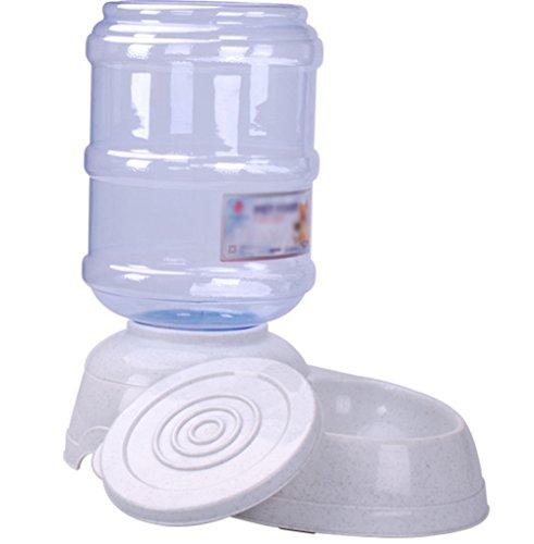 Kentop Futterspender, automatisch, Wasserspender, flach, Futterschüssel, Futternapf, für Hunde, Welpen, Katzen, 3,5 l