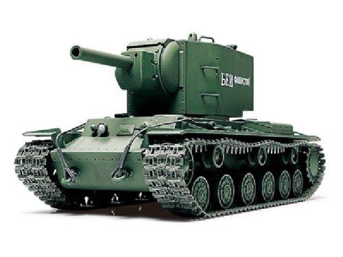 TAMIYA 300032538 - WWII Russischer Schwerer Kampfpanzer (KPz) KV-2 Gigant, Militär-Bausatz 1:48