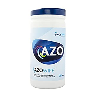 Azo Wipette Rapid Disinfection Hard Surface Wipes - 20x18cm (3 Canisters of 250)