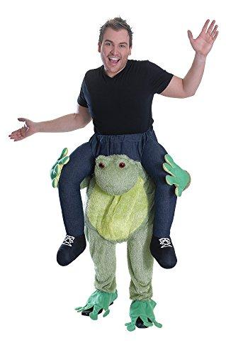 Trag Mich Kostüm Frosch Karneval Overall grün Froschkostüm Fasching Erwachsene