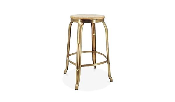 Cult living sgabello da bar in metallo morgan seduta legno di