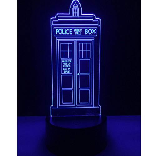 Box Pavillon (Kreative Polizei Pavillon Box 7 Farbverlauf Stimmung LED Nachtlichter Illusion Schreibtisch Wohnkultur Kind Kinder Baby Weihnachten Neujahr Geschenke)