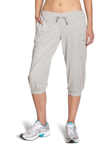 adidas Damen 3/4 Hose Essentials Knit Pants, Medium Grey Heather, XL, X12656 (Knit Pants Adidas)
