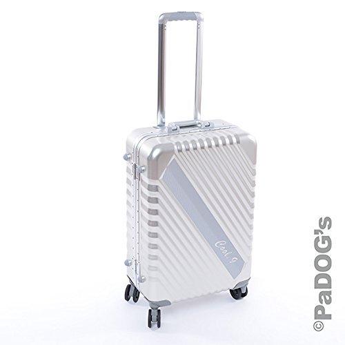 Bontoy cool-9 Aluminium-Reisekoffer silber M, 59 Liter, mit TSA Schloß