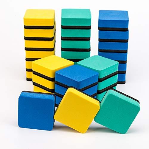 AIEX Borrador Pizarra Blanca Magnetico Whiteboard Eraser Mini Esponja Pizarra para Niños y Adultos (30 Pack)