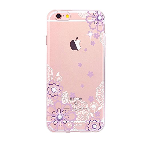 iPhone 7 Hülle Silikon,iPhone 7 Hülle Glitzer,iPhone 7 Crystal TPU Bumper Case Soft Transparent Silikon Gel Schutzhülle Cover,iPhone 7 Hülle (4.7 Zoll) Cristall,EMAXELERS iPhone 7 Bling Cristall Diama TPU 65