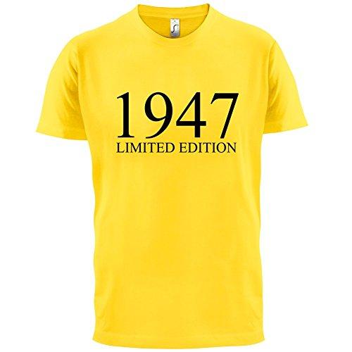 1947 Limierte Auflage / Limited Edition - 70. Geburtstag - Herren T-Shirt - 13 Farben Gelb