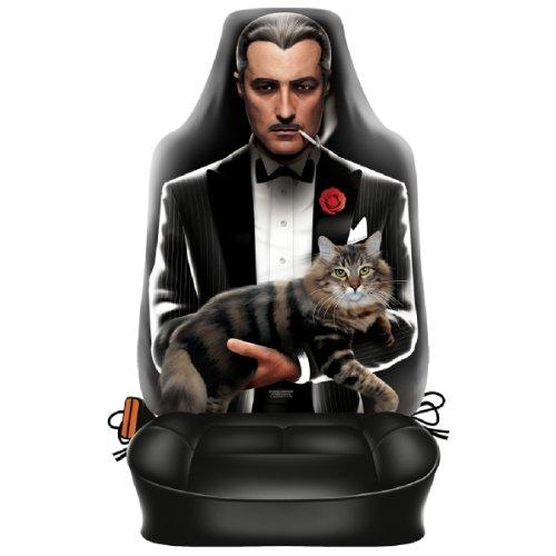 Preisvergleich Produktbild Autositzbezug Der Pate mit Katze Beifahrer Schonbezug Auto Sitzbezug geil bedruckt und für Seitenairbag geeignet