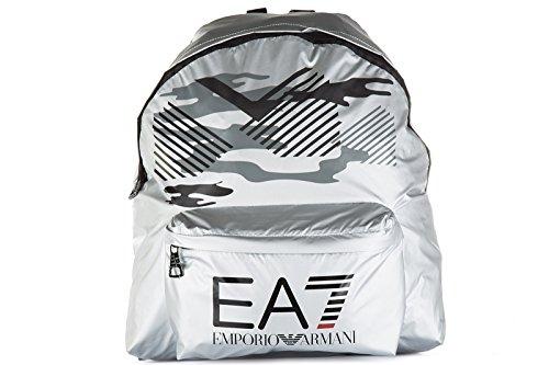 Emporio Armani EA7 zaino borsa uomo originale train core graphic argento