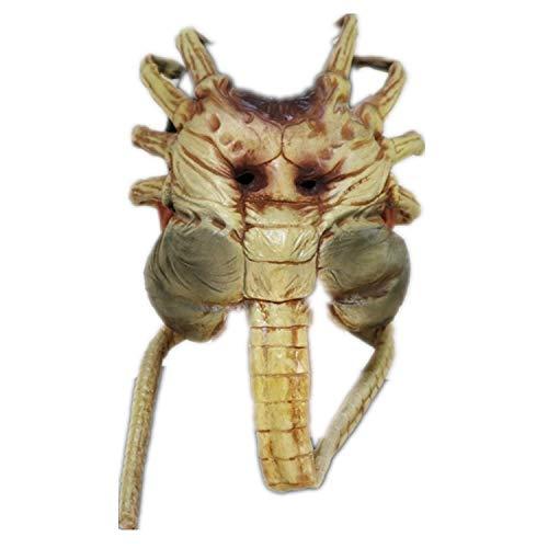 XUMING Halloween Scary Alien Mask, Xenomorph Facehugger mit Schwanz, weich und komfortabel für Erwachsene Party Cosplay Dekoration - Xenomorph Kostüm Kind