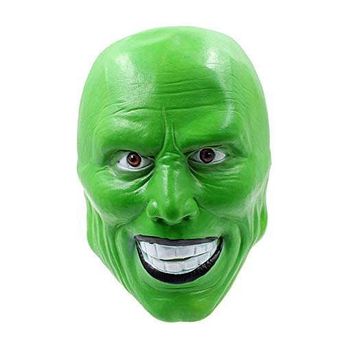 Maske YN Luxus Neuheit Stanley Ipkiss Jim Carrey Halloween Perücke Film Ball Latex
