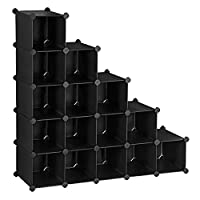 SONGMICS Interlocking Shoe Rack 16 Cubes Storage