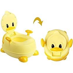 BAMNY Pot de bébé, siège de toilette pour enfant avec sièges rembourrés, appareil de toilette de canard pour enfants de 1 à 7 ans