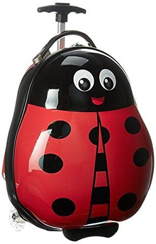 Heys America Brand New Unique Shaped Kids 2 Piece Travel Tots Luggage & Backpack Set (Ladybug)