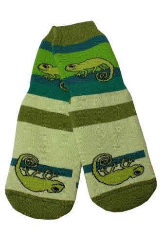 Weri Spezials Unisexe Bebes et Enfants ABS Eponge Cameleon Pantoufle Chaussons Chaussettes Antiderapants Vert Vert
