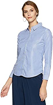 KRAVE Women's Striped Regular Fit S