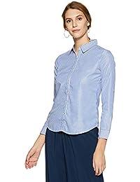 Krave Women's Striped Regular Fit Shirt