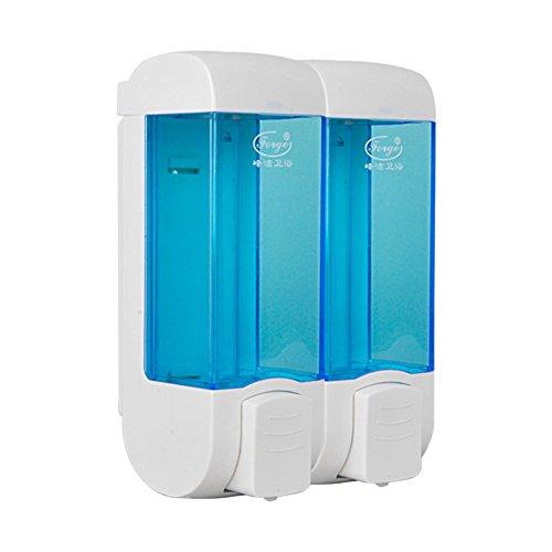 Dusche dispenser,Wandhalterung,Presse-seifenspender,Home Hotel Bad waschmittel flasche Gel-duschkabine Hand sanitizer flasche Blue Einkopf Doppelköpfige - doppelt (Spülen Sanitizer)