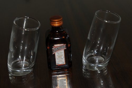 pair-of-ludico-tilted-shot-glasses60ml-with-cointreau-orange-liqueur-5cl-miniature