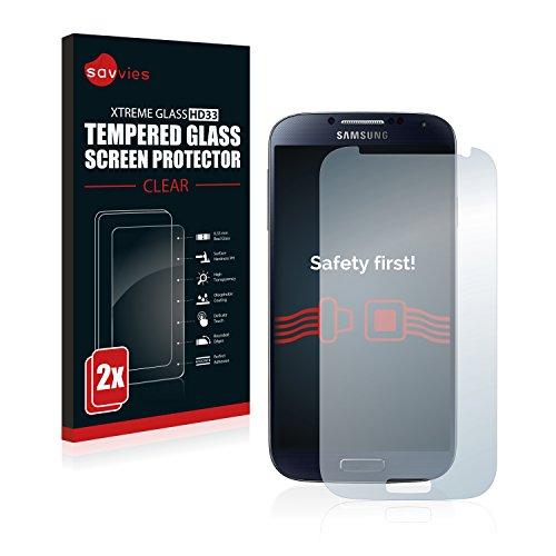 Samsung Galaxy S4 I9500 Panzerglas [2er Pack] - Echtglas Panzerfolie Panzerglasfolie Hartglas Schutzfolie Displayschutzfolie