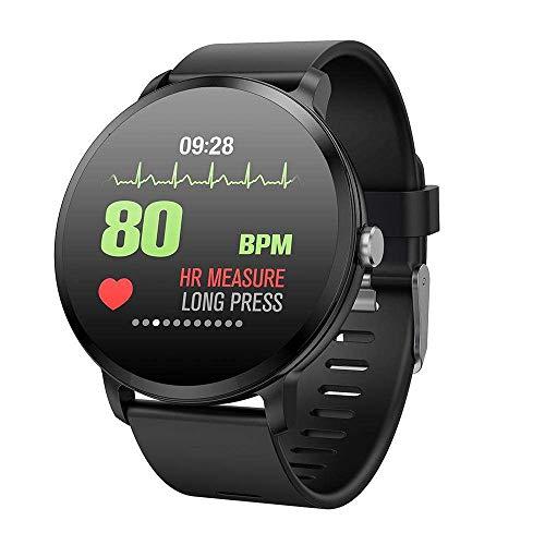 Miya Touch Glass - Reloj de Pulsera con Monitor de Actividad Impermeable IP67 con frecuencia cardíaca y presión Arterial