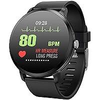 Smartwatch Inteligente,Miya Fitness Tracker Pulsómetro Bluetooth Monitor de Actividad Pulsera con Podómetro Monitor de Dormir Pulsera de Fitness Inteligente Salud para Moviles Android y iOS-Negro