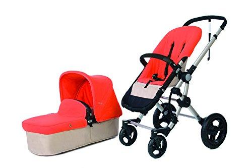 BABY ACE 3011700100003 - PACK CON COCHECITO PARA BEBE BABY ACE 042  BASE ARENA + SET DE INVIERNO  COLOR NARANJA