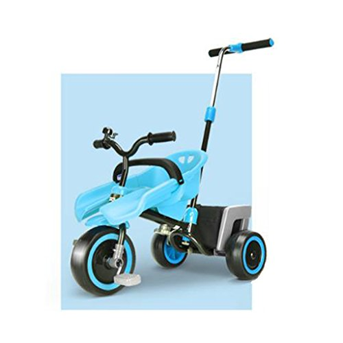 Baby stroller- Kinder Dreirad Fahrrad Kinderwagen Baby Bike (Farbe : Blue) (Bike Double Stroller)