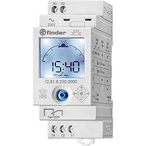 Finder 128182300000PAS - Interruttore giornaliero Astro digitale con invertitore 16