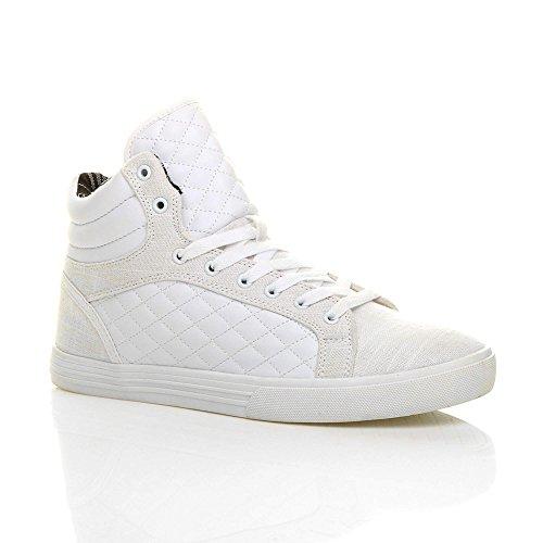 Ajvani Herren Flach Schnüren Gesteppte Stiefeletten Sneaker Sportschuhe Größe 43 9