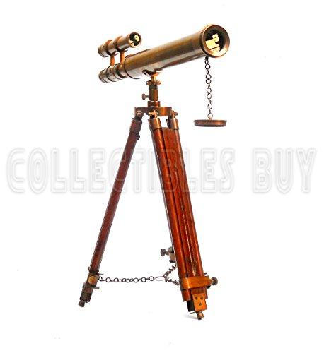 Telescopio de doble cañón con trípode