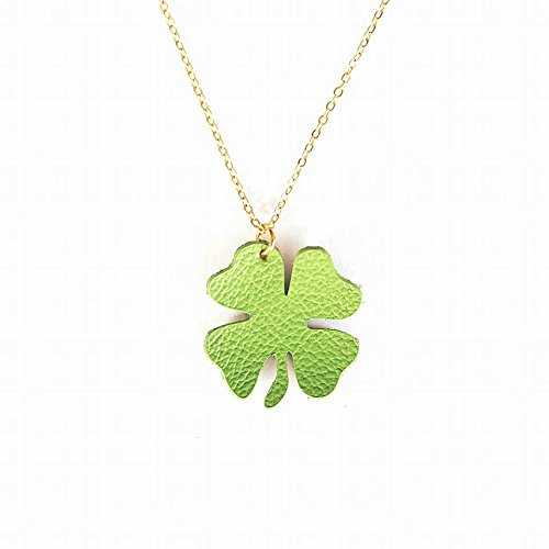 collar-trebol-collar-trebol-4-hojas-collar-suerte-collar-verde-collar-cuero-collar-piel-collar-oro-c